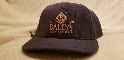 BALLY'S CASINO - New Old Stock Strap Back 1990s Vintage Hat - LAS VEGAS