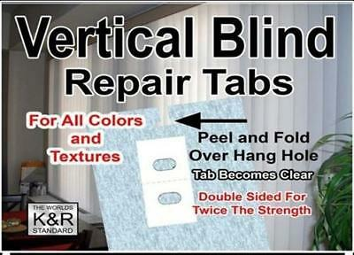10 Self Adhesive Vertical Blind Repair Tabs - Ships Free - Original K&R Brand