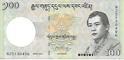 BHUTAN Ngultrum (Nu.)100 issue 2015