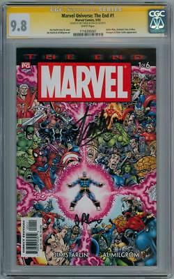 Marvel Universe End #1 Cgc 9.8 Signature Series Signed Stan Lee Starlin Thanos