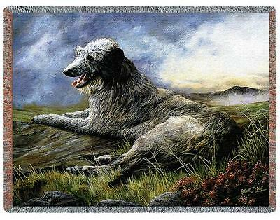 Throw Tapestry Afghan - Scottish Deerhound by Robert May 1933 IN STOCK