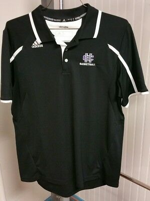 74d1a284 Holy Cross College Crusaders Basketball Adidas Climalite Golf Polo Shirt  Men's L