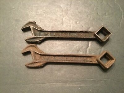 Lot of 2 PLANET JR #3 iron wrench tools
