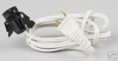 Snapin candelabra  lamp socket with 6' cord Free Ship