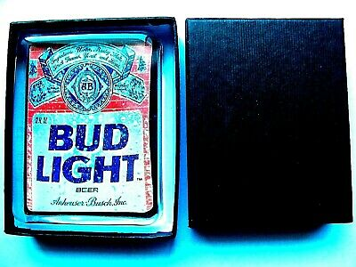 Budweiser Beer Logo Glass Paperweight   New in Gift Box   Bud Light