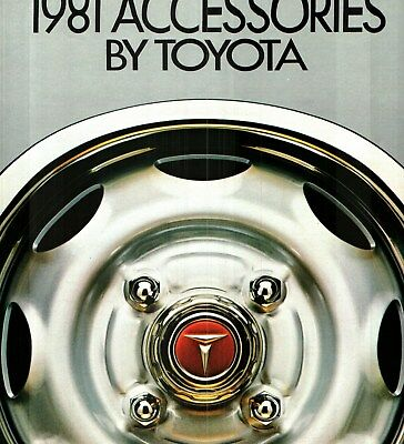 1981 Toyota Accessories Deluxe Color Sales Catalog + Sound System Brochure