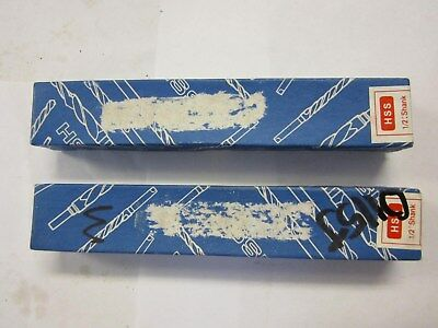 """Lot Of 2 Reduced Shank Oxide Coated HSS 15/16"""" Silver & Deming Dill Bits NEW"""