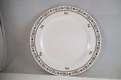 Vintage John Maddock & Sons Royal Vitreous Salad Plate Blue Red Flowers