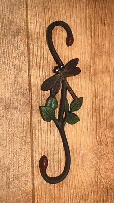 "Cast Iron Painted Dragonfly Plant Hangers 12"" Tall (Single) 0184J-3073"