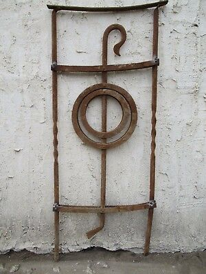 Antique Victorian Iron Gate Window Garden Fence Architectural Salvage Door #094