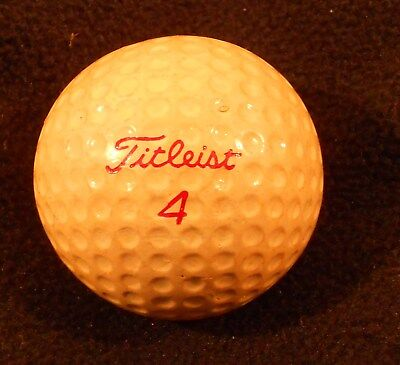 Vintage TITLEIST Acushnet red 4 GOLF BALL dimple