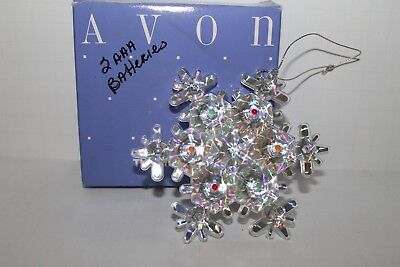 Vtg 1991 AVON What A Star Light-Up Star Snowflake Christmas Ornament Box