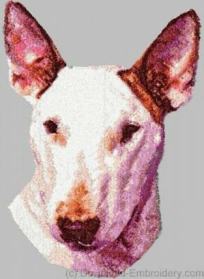Large Embroidered Zippered Tote - Bull Terrier DLE1497