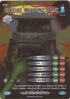 """Doctor Who Battles In Time Ultimate Monsters - Rare """"Weapons Dalek"""" Card #676"""