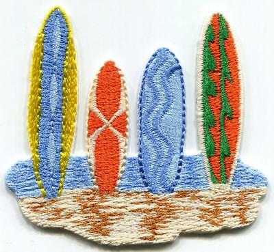Surfboards//Surfing Blue Woodie//Woody Iron on Applique//Embroidered Patch