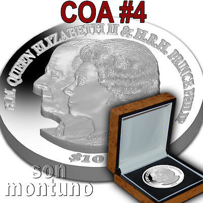 COA #4 Platinum Wedding Anniv 2 oz Silver Piedfort 2017 British Virgin Islands