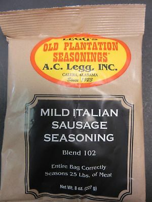 Italian Seasoning for Snack Sticks or Slim Jims sausage.  Add Venison, Beef etc