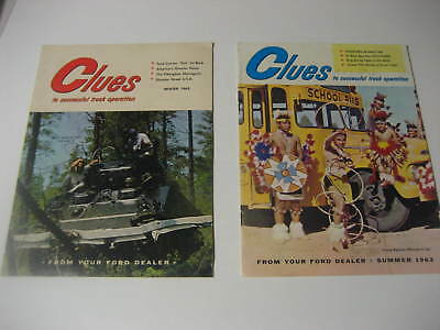 1963 Clues Magazines from Your Ford Dealer.......Lot of two