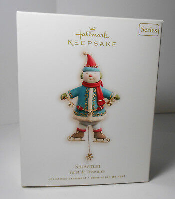 Hallmark 2008 SNOWMAN YULETIDE TREASURES ORNAMENT SERIES MAGIC W MOVEMENT