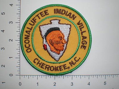 NC North Carolina Oconaluftee Indian Tribe Village Tribal Police patch TYPE # 2