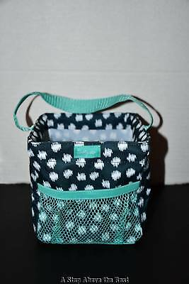 Thirty One Littles Carry All Caddy in Navy Doodle Dot - NEW