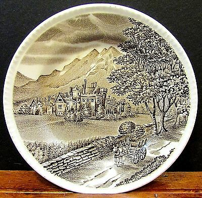Wood and Sons Westmorland England Hand Engraving Brown Castle Side Plate FREE SH