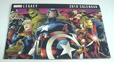 Marvel Legacy 2018 Calendar 12 Mo Superheroes (Comic Book Size) Spidey Thor More