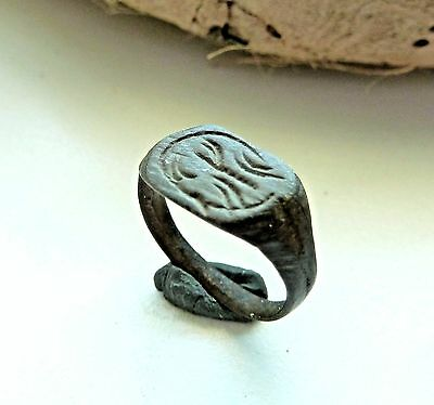 Old bronze ring  (185).
