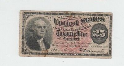 Fractional Currency Civil War Era Item one note fine stains