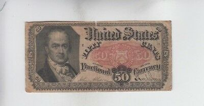 Fractional Currency Civil War Era Item one note vg stain tear
