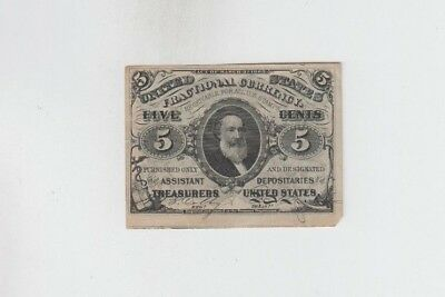 Fractional Currency Civil War Era Item one note vf with missing corner tip