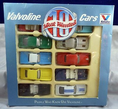Vintage Unused ? Valvoline 10 Most Wanted Cars In The Box   1/64 Scale