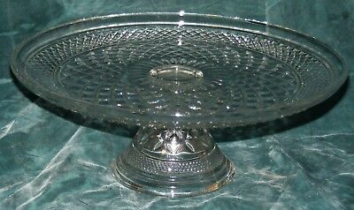 Anchor Hocking Glass Wexford Pedestal Cake Stand Free Ship