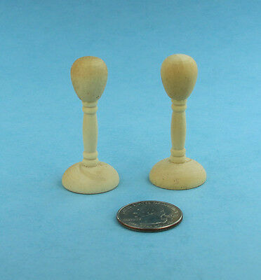 Package of 2 Dollhouse Miniature 1:12 Scale Wooden Hat Stands #SD1691