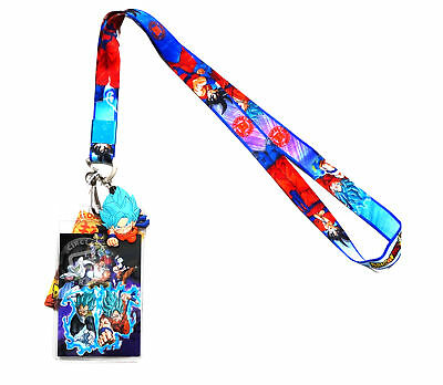 Dragon Ball Super  Resurrection F Lanyard with ID Holder & SSGSS Goku PVC Charm