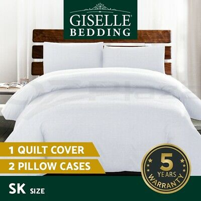 Giselle Bedding Luxury Classic Duvet Doona Quilt Cover Set Hotel Super King WH
