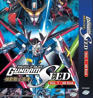 MOBILE SUIT GUNDAM SEED Box Set | S1+S2 | Eps.1-48 | Subs | 5 DVDs (VS0243