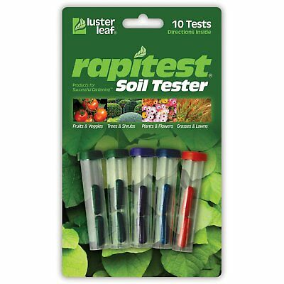 Luster Leaf 1609CS Rapitest Garden Farm Lawn Soil ph NPK Test Tester Testing Kit