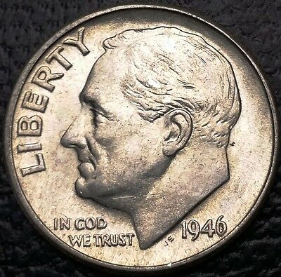 1946 Roosevelt 90% Silver Dime - 10 Cents **GREAT CONDITION** Free Combined S/H