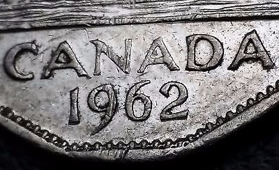 1962 Canada 5 Cents Nickel Coin ***Re-Engraved 2*** Free Combined Shipping