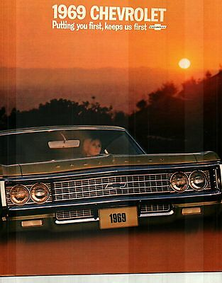 1969 Chevrolet Caprice, Impala, Beair, Biscayne Deluxe Color Catalog