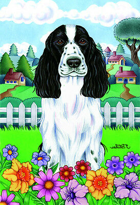 Large Indoor/Outdoor Spring Flag - English Cocker Spaniel 73054 TP