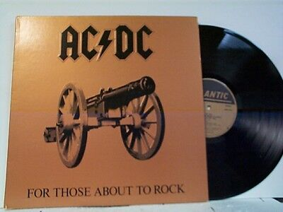 "Ac / Dc ""for Those About To Rock"" Lp Mint Record"