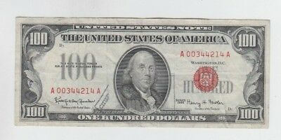 Red Seal $100 1966 fine ink