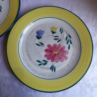 Stangl Pottery Flora Chop Plate(s) 12 1/2 inch, yellow rim