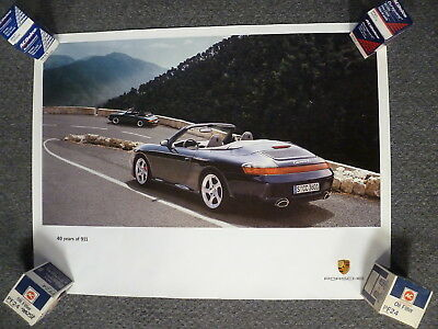 2003 Porsche 911 Carrera 4S 40 yr 40x30 Showroom Advertising Poster WK 214 020 4