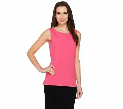 Linea Leisure Louis Dell'Olio Scoop Neck Knit Tank Peony Pink XS NEW A262066