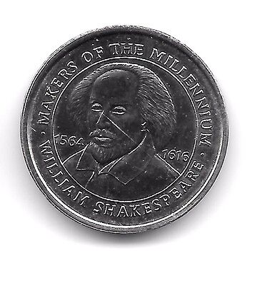 Makers of the Millennium,Coin/Token- William Shakespeare, Brilliant Uncirculated