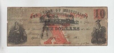 Obsolete Currency State of Mississippi lower grade