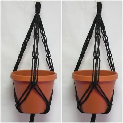2 MACRAME PLANT HANGERS 20in FRIENDSHIP- CHOOSE COLOR